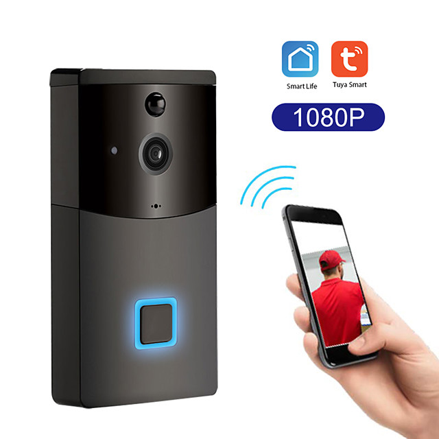 Tuya smart wifi sonnette interphone anti-pluie détecteur de mouvement pir caméra de sécurité de vision nocturne