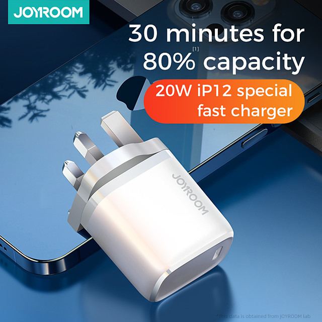 Joyroom NRT-DY139E 20W PD Charger Smart Type C Fast Charger For IPhone 12 Pro Max Type C Charger Support QC3.0 Samsung Huawei Super Fast Charge