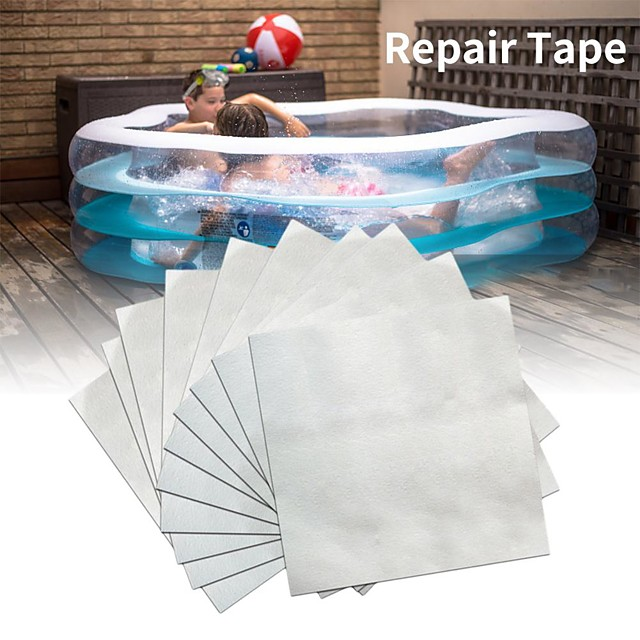 10pcs Swimming Float Repair Kit PVC Puncture Patch Glue Adhesive For Inflatable Toy Pools Air Bed Dinghies