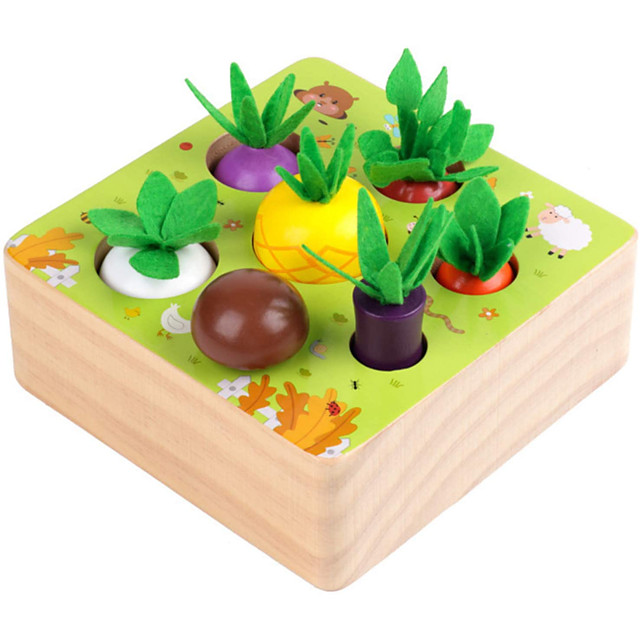 8 pcs Board Game Educational Toy Wooden Creative Flower family game Parent-Child Interaction Family Interaction Kids Preschool Boys and Girls Toys Gifts