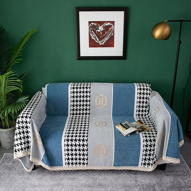غطاء أريكة هندسي مطبوع بوليستر الأغلفة