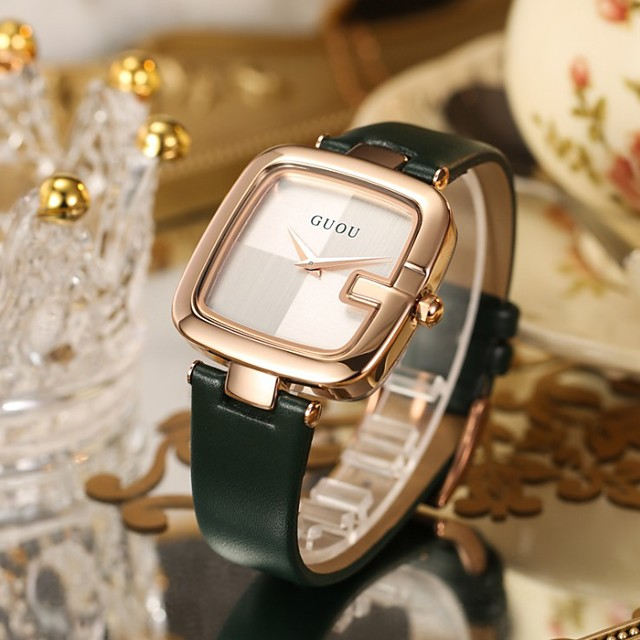 Women's Quartz Watches Analog Quartz Minimalist Water Resistant / Waterproof / PU Leather