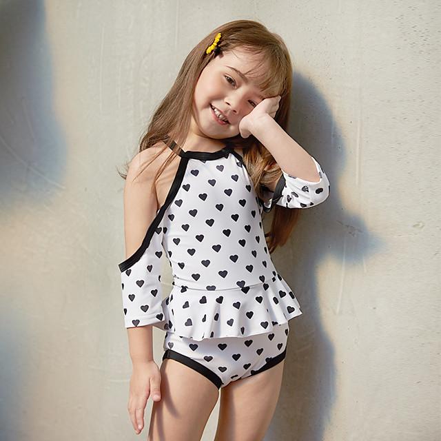أطفال للفتيات ملابس سباحة قطعة واحدة ملابس السباحة طباعة ملابس السباحة طباعة لون الصورة نشيط بدلة سباحة