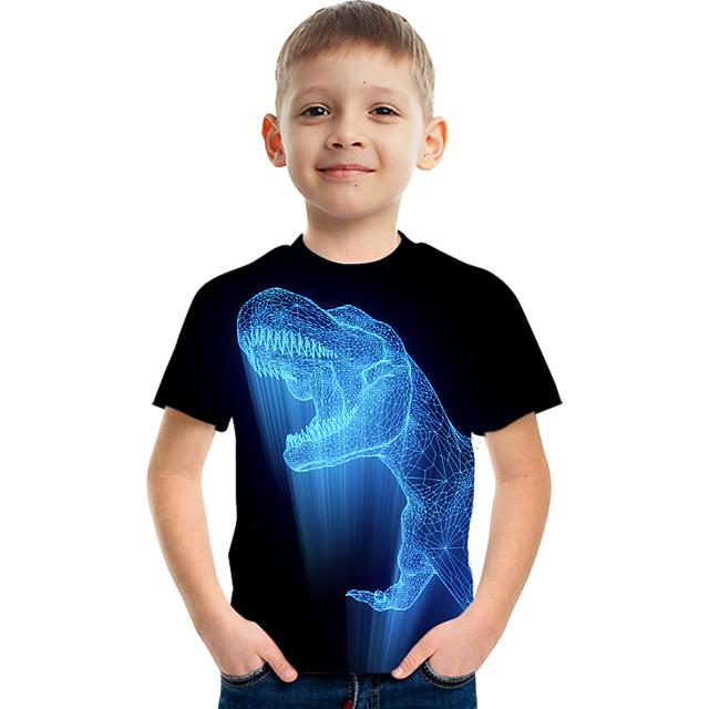 Enfants Garçon T-shirt Tee-shirts Manches Courtes à imprimé arc-en-ciel Imprimé Enfants Hauts Actif basique Noir Bleu Vert Véronèse