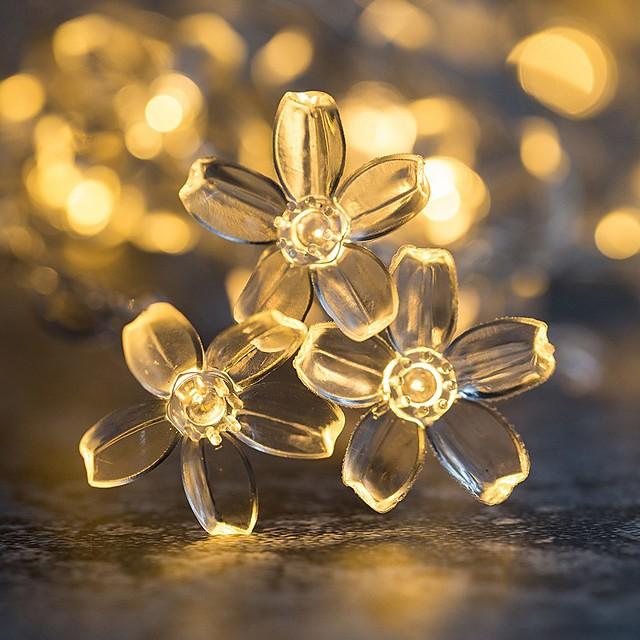 3M 6 ม ไฟสาย 20/40 ไฟ LED 1set ขาวนวล หลากสี คริสมาสต์ สำหรับงานปีใหม่ ปาร์ตี้ ตกแต่ง วันหยุด ใช้แบตเตอรี่ AA
