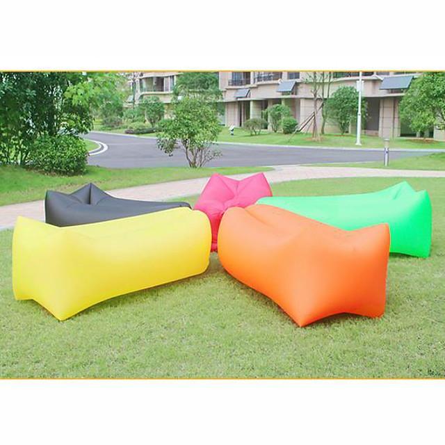 البوليستر نفخ أريكة في الهواء الطلق المحمولة كيس النوم أرجوحة قابلة للطي سرير أريكة الهواء