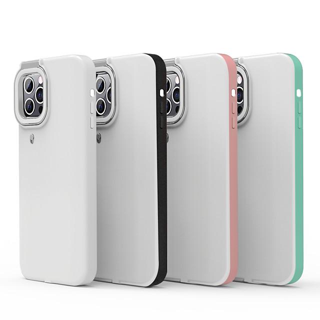 telefon Θήκη Za Apple Stražnja maska iPhone 12 iPhone 11 iPhone 12 Pro Max iPhone 11 Pro iPhone 11 Pro Max iPhone 12 Pro Otporno na trešnju Protiv prašine LED Jednobojni PC