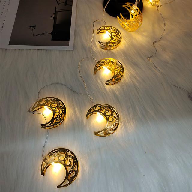 eid mubarak lune guirlande lumineuse ramadan 1.5m 10leds à piles islamique fête musulmane eid maison jardin décoration guirlandes lumineuses