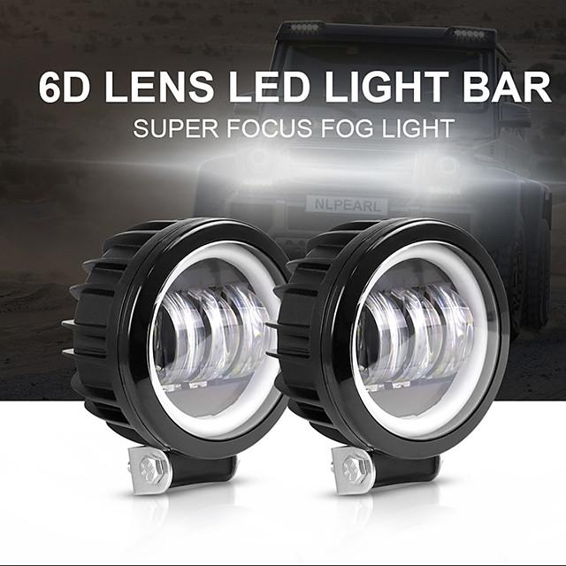 OTOLAMPARA Automatique LED Feu Antibrouillard Ampoules électriques 10000 lm LED Haute Performance 100 W 4 Pour Universel Tous les modèles Toutes les Années 2 pièces