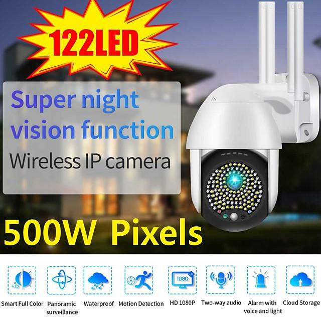 2021 5mp ptz wifi ip camera outdoor 122 led 1080p 8x zoom digitale wireless security cctv telecamera di sorveglianza bidirezionale audio cloud
