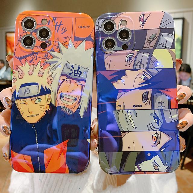 Naruto telefono Custodia Per Apple Per retro iPhone 12 Pro Max 11 SE 2020 X XR XS Max 8 7 Resistente agli urti IMD Fantasia / disegno Naruto Cartoni animati TPU