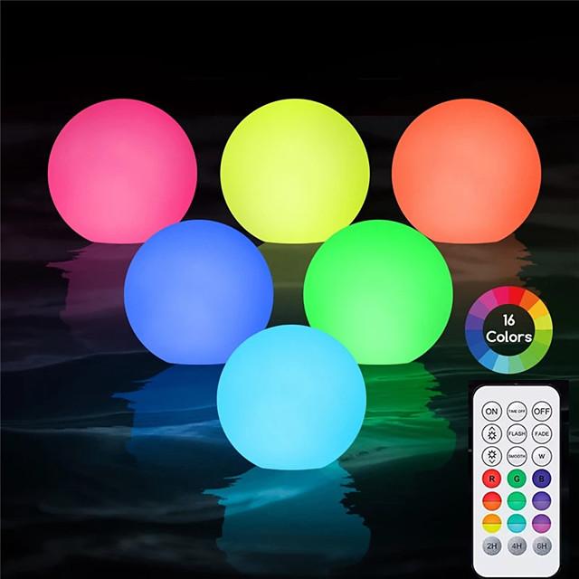 luce subacquea per piscina attività all'aperto 8cm led palla colorata per cortile stagno giardino decorazione prato illuminazione colorata piscina galleggiante lampada da discoteca ip68 con