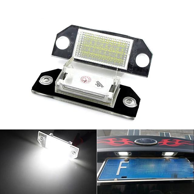 otolampara voiture led éclairage de plaque d'immatriculation spécial pour ford focus c-max (03 -) / focus mk2 (03-08) 6000 k couleur blanche légèreté 2 pièces