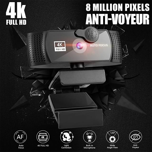 webcam per pc con microfono 4k full hd 1080p widescreen gioco per computer video lavoro webcamera rotabile usb web camera cam