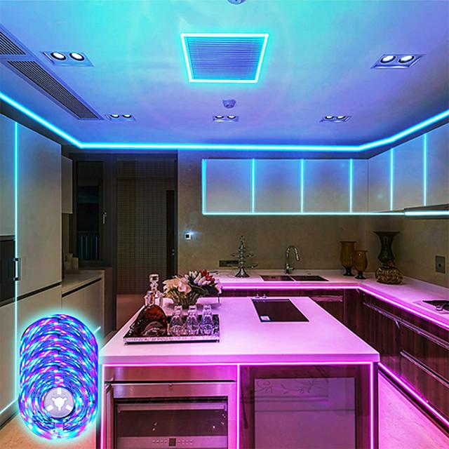 led-nauhavalot musiikin synkronointi 20m rgb 1200leds led-nauha 2835 smd värinvaihto led-nauhavalo bluetooth-ohjain ja 40 avainta led-led-valot makuuhuoneen kotibileille