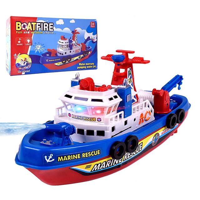 Badespielzeug Spielzeug-Boote Kinder-Planschbecken Schiff Nautisch Stimme Elektrisch Partybevorzugung Plastikschale Spielzeuge Geschenk 1 pcs