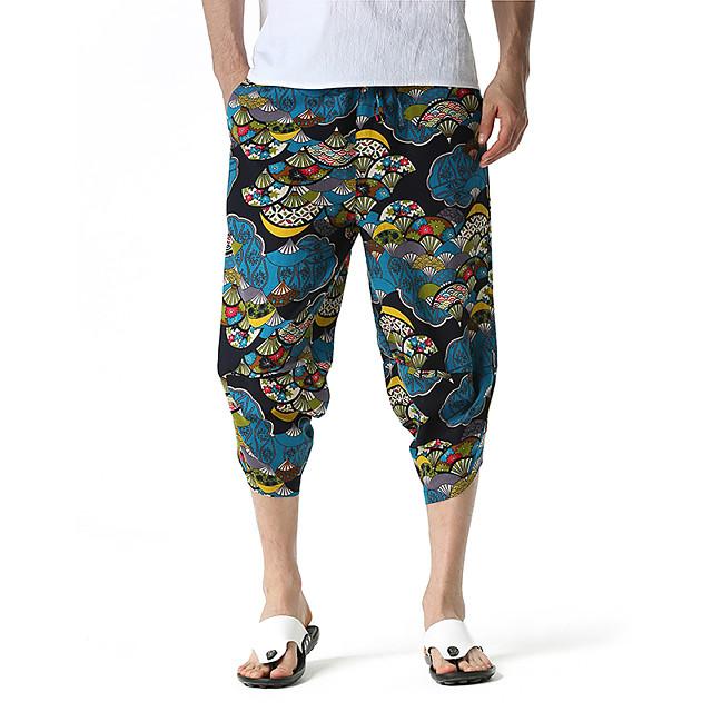 Homme Chino Pantalon Harlem Extérieur Des sports Décontracté Sortie Chino Pantalon Imprimés Photos Mollet Imprimé 1 2 3 4 5