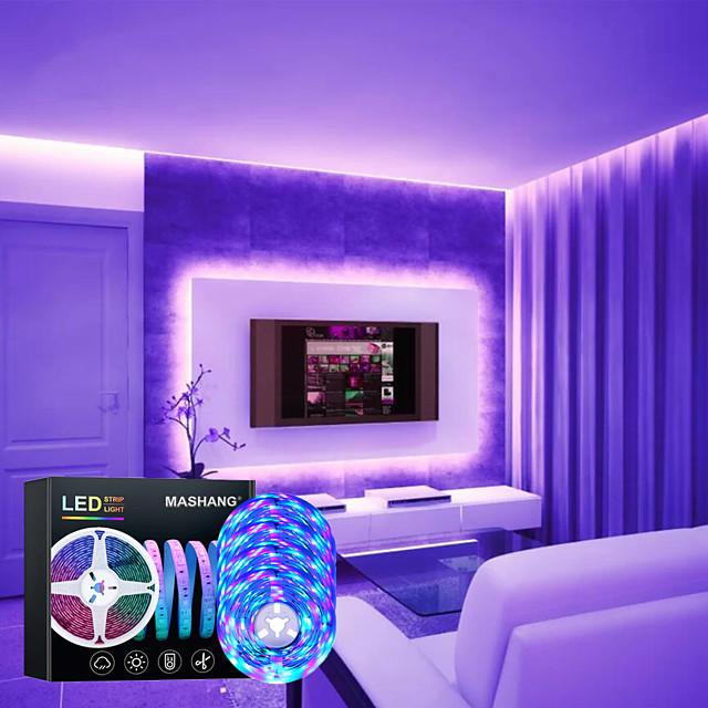bande led lumières synchronisation de la musique 20m rgb 1080leds bande led 2835 smd à changement de couleur led bande lumineuse contrôleur bluetooth et 24 lumières led à distance pour la fête à la