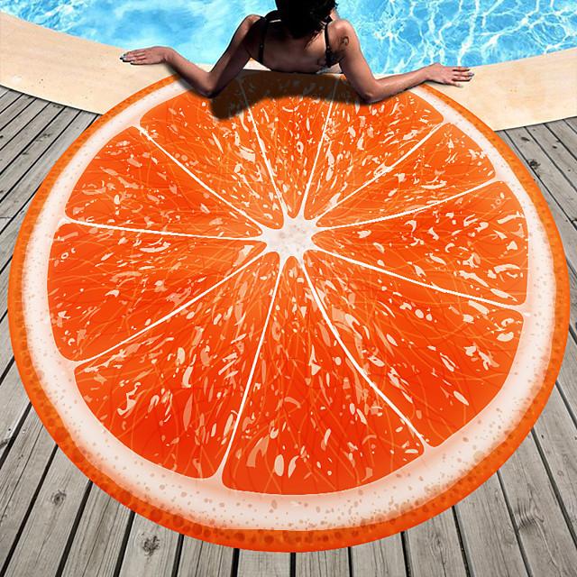 Serviette de plage polyvalente, écharpe en soie épaisse à motif de fruits colorés, en fibre superfine, serviette sans sable, pour voyage, camping, piscine, extérieur ou pique-nique