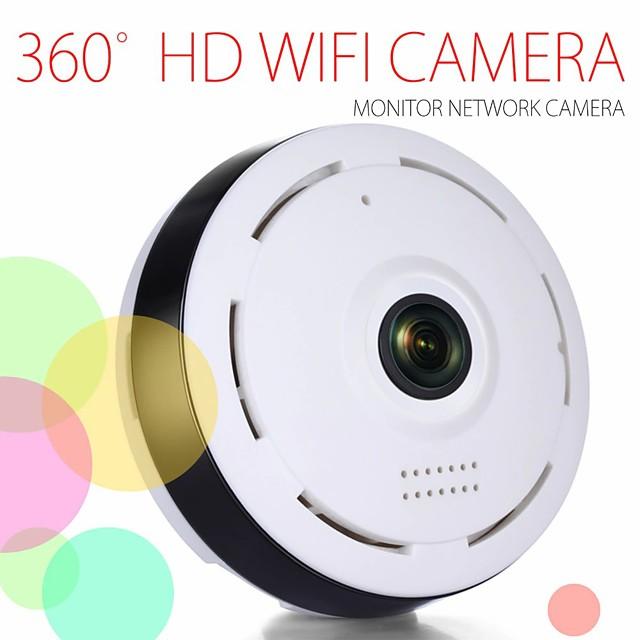 Telecamera panoramica wifi v380 Telecamera fisheye wifi 1080p Telecamera cctv di sicurezza wireless Telecamera panoramica wifi a 360 ° Rilevazione del movimento