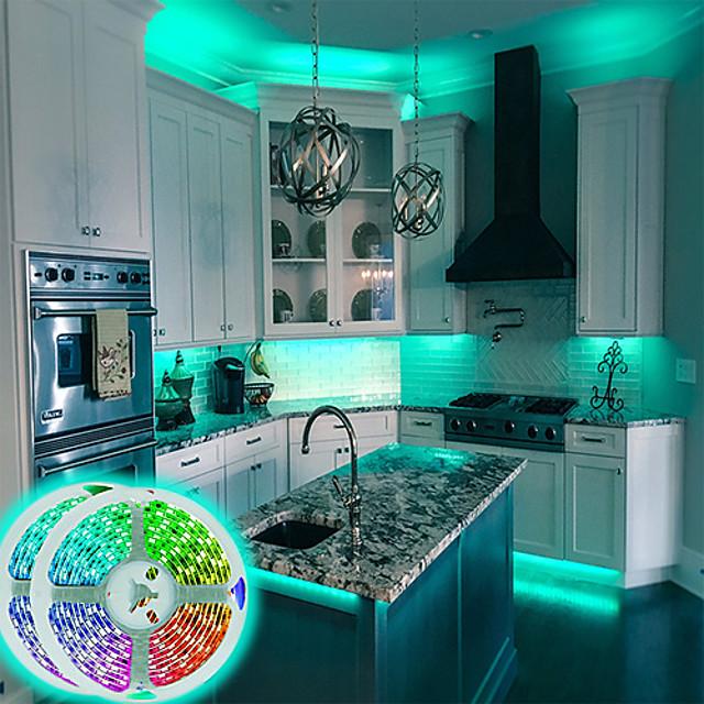 luci di striscia a led app wifi controllo intelligente 5050 2x10m 65ft rgb led smart strip light con controller a 24 chiavi ir o kit adattatore dc12v