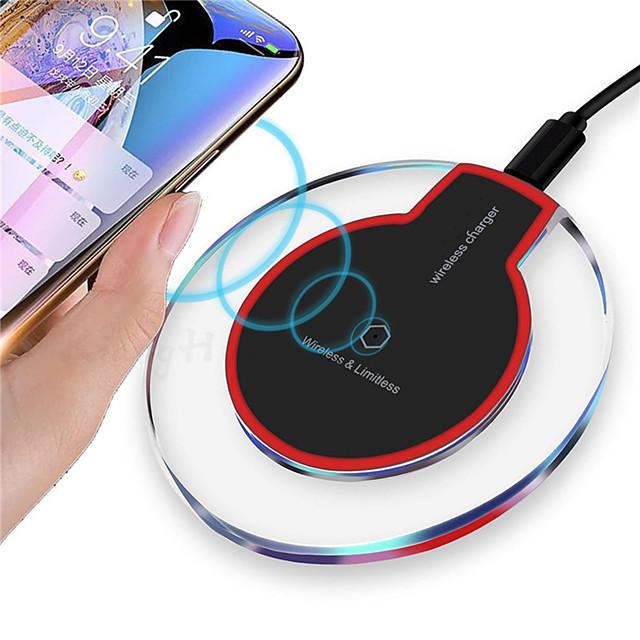 qi mini chargeur rapide sans fil de bureau chargeur de téléphone portable portable pad de charge sans fil usb pour samsung s21 s20 s10 une série oneplus 9 8 7 xiaomi huawei lg google