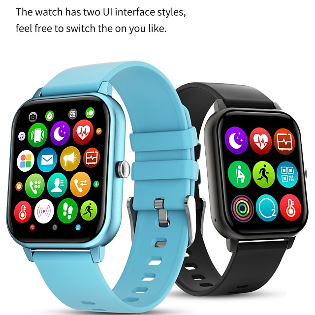 KT50 Intelligente Guarda Bluetooth IP 67 Schermo touch Monitoraggio frequenza cardiaca Sportivo Pedometro Avviso di chiamata Monitoraggio del sonno Cassa dell'orologio da 36,5 mm per Android iOS