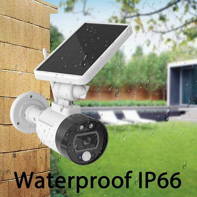 ouertech 1080p vanjska solarna wifi kamera za punjenje baterije bežična sigurnosna kamera ip66 pir detekcija pokreta metak nadzor