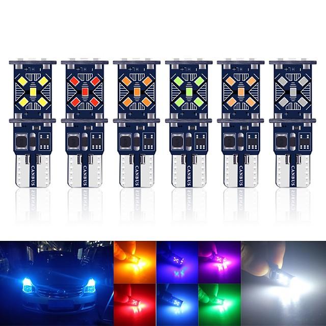10 pcs Canbus T10 LED W5W 194501 LED Lumière Intérieure De Voiture 15smd 2016 Instruments De Dégagement Feux Cale Plaque Dôme Lumière Aucune Erreur 12 V