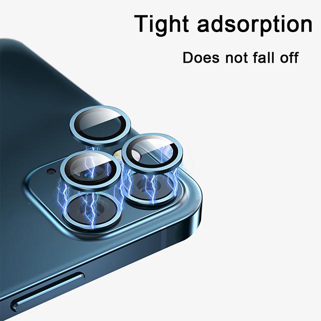 telefono Proteggi Schermo Per Apple iPhone 12 iPhone 11 iPhone 12 Pro Max iPhone 11 Pro iPhone 11 Pro Max Vetro temperato 2 pz Alta definizione (HD) Anti-graffi Protezione dell'obiettivo della
