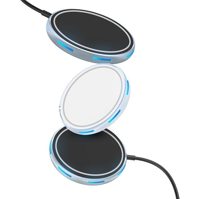 15 W Potenza di uscita Pad di ricarica wireless Caricatore senza fili Portatile Zero Per Cellulari Apple iPhone 12 11 pro SE X XS XR 8 Samsung Glaxy S21 Ultra S20 Plus S10 Note20 10