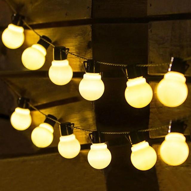 solar în aer liber impermeabil 5m 3.5m g50 bec retro led lumini de șir de Crăciun nunta floare stradă grădină patio nuntă în aer liber lumină decorativă șir de iluminat de vacanță