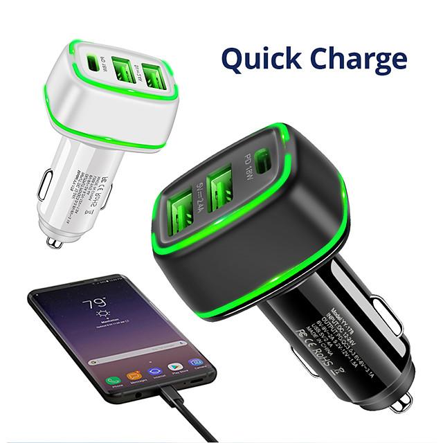 30 W Puissance de sortie USB USB C Chargeur rapide Chargeur USB QC 3.0 Charge Rapide Pour Xiaomi MI HUAWEI Apple iPhone 12 11 pro SE X XS XR 8 Samsung Glaxy S21 Ultra S20 Plus S10 Note20 10 Pour