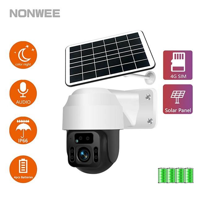 pannello solare wifi telecamera pir rilevamento umano videosorveglianza vight vision waterproof videcam
