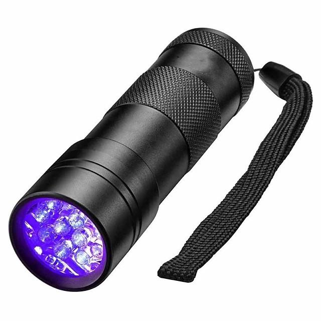 Lampes de poche Lumière Noir Imperméable LED Lampe 5mm 12 Émetteurs 1 Mode d'Eclairage Imperméable Lampe UV Détecteur Camping / Randonnée / Spéléologie Usage quotidien Chasse Noir