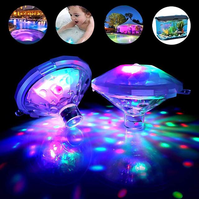 luce subacquea esterna rgb set da 2 pezzi lampada da discoteca a led sommergibile lampada da festa a batteria vasca idromassaggio luci termali luce per bagnetto piscina spettacolo di bagliore luci di