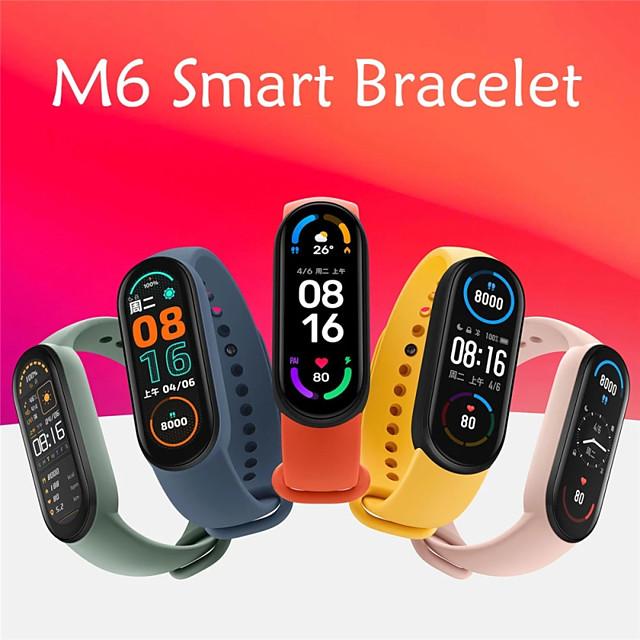 m6 Slimme armband Smartwatch Slaaptracker Sedentaire herinnering Waterbestendig Hartslagmeter Bloeddrukmeting IP 67 18 mm horlogekast voor Android iOS Man vrouw / Sportief