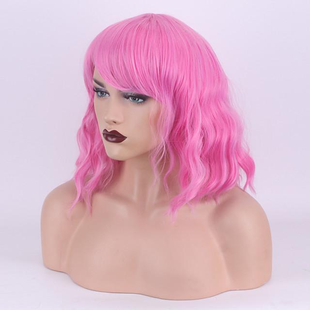 Perruque Synthétique Ondulation profonde Coupe Droite Perruque Court A42 Cheveux Synthétiques Femme Cosplay Soirée Mode Cuisse de nymphe