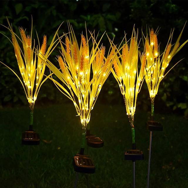 Lumières solaires extérieures étanche led lampe d'oreille de blé cour jardin patio décoration nuit lumière chemin pelouse led paysage lampe led solaire jardin lumière