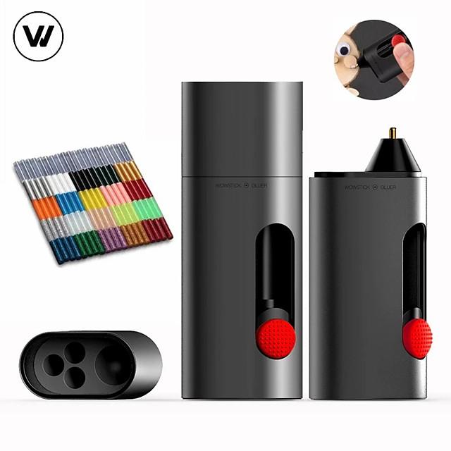 Batteria al litio wowstick 2000mah mini penna colla hot melt ricarica di tipo c adatta per compiti fai da te e genitore-figlio