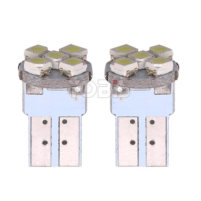 Yobis automotive led-lamp t10-2835-5 breedte lampje dashboard deur licht printplaat socket