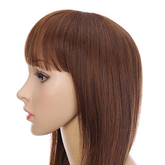 commerce extérieur vente chaude peut être qi peut frange oblique longue perruque de cheveux raides peut être sel peut être doux tempérament perruque couvre-chef Vente en gros spot