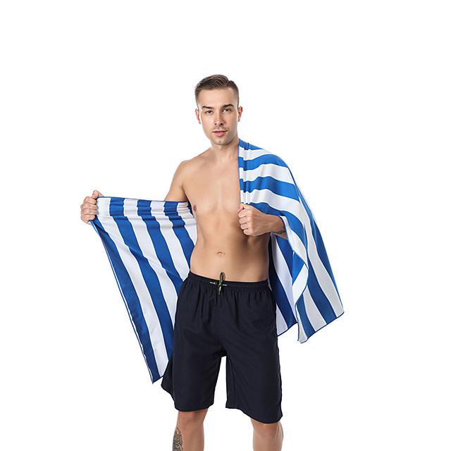 Serviette de plage à séchage rapide en polyester à larges rayures Serviette de bain absorbant l'eau à rayures de couleur double face