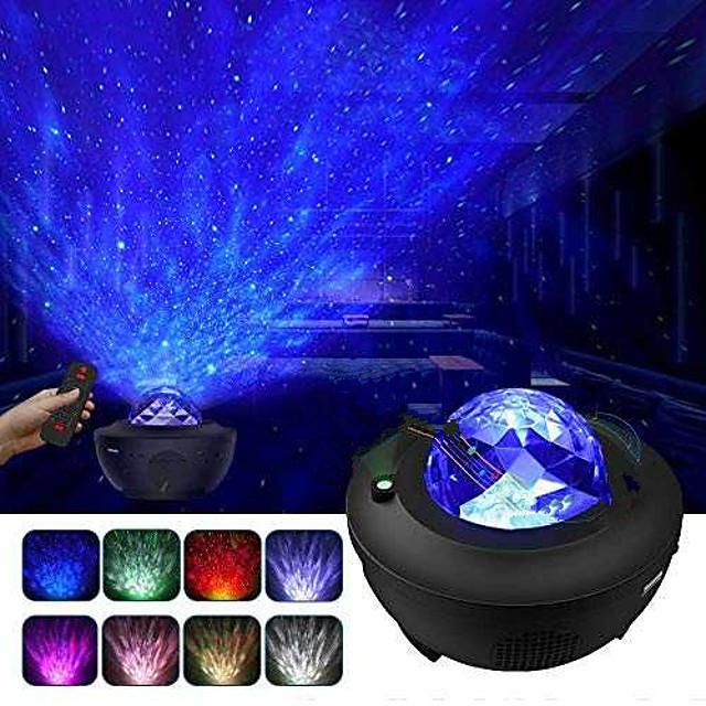 Lampe Projecteur Etoile Galaxie Projecteur Lumière Télécommandé Projecteur Star Light Télécommande Soirée Mariage Cadeau Rouge