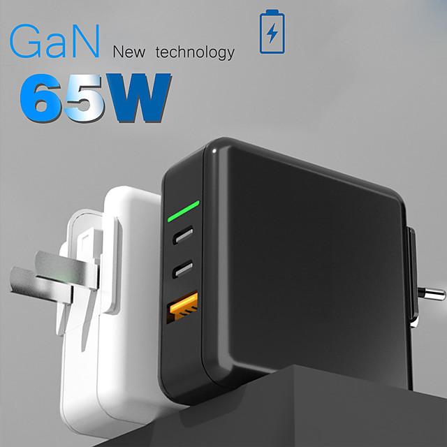 65 W Puissance de sortie USB Chargeur PD Chargeur rapide Chargeur de portable Portable Sorties Multiples Charge Rapide Invalide Pour Mobile iMac