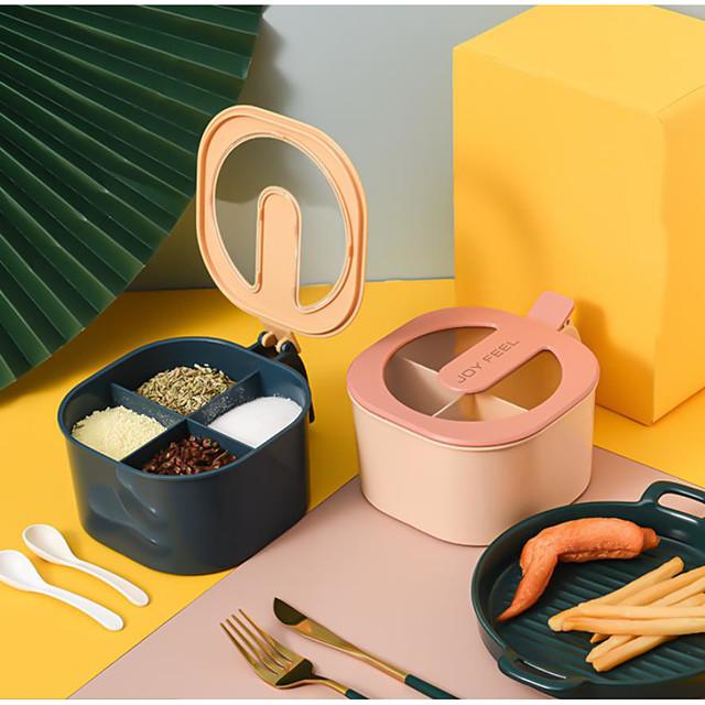 банки для приправ пластиковые банки коробки для дома 30 мл кухня 1 комплект