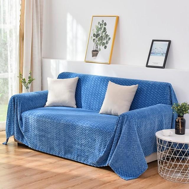 Housse de canapé couverture de canapé gaufrage/couverture de canapé à motif d'oreilles de blé en peluche/convient pour 1 à 4 coussins de canapé et canapé en forme de l