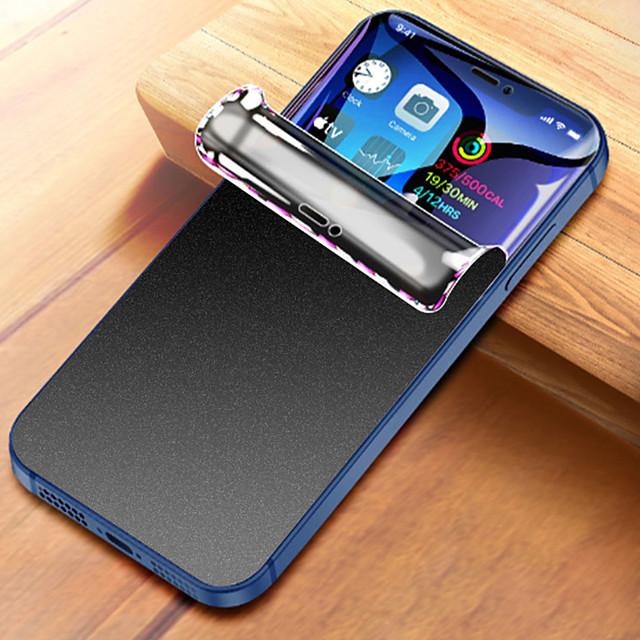 téléphone Protection Ecran Pour Apple Hydrogel TPU iPhone 12 Pro Max 11 SE 2020 X XR XS Max 8 7 3 pcs Extra Fin Mat Vie Privée Anti-espion Ecran de Protection Avant Film Vitre Protection Accessoire