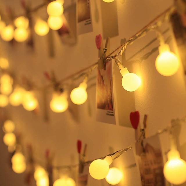 LED boule chaîne lumière décoration de mariage en plein air 10 m chaîne à billes guirlande de fées lumières ampoule lumière étanche pour mariage en plein air noël maison