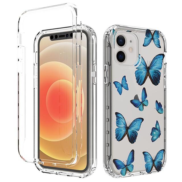 telefon fodral Till Apple Skal iPhone 12 Pro Max 11 Pro Max Stötsäker Dammtät Mönster Landskap TPU